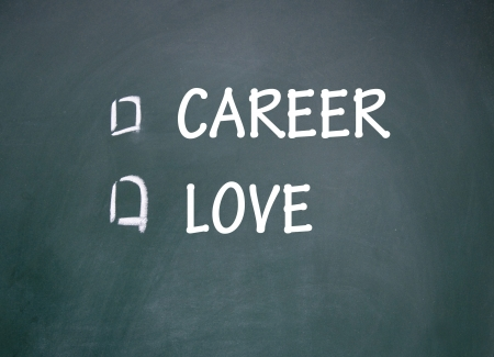 equitable: career and love choice Stock Photo