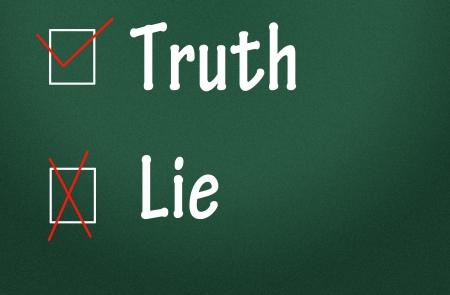lie: truth and lie choice symbol  Stock Photo