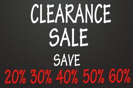 clearance sale symbol  photo