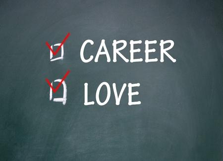 career and love choice Stock Photo - 14309029