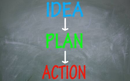 idea plan and action step Stock Photo - 14348768