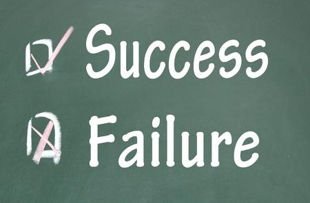 success and failure choice  photo