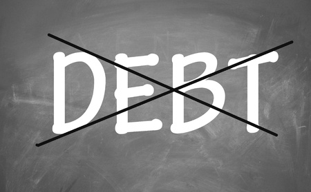 eliminate: Eliminate debt symbol