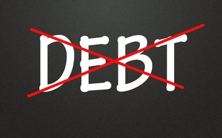 Eliminate debt symbol photo
