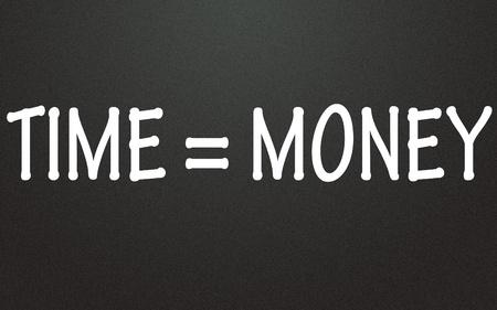 tiempo de símbolo dinero igual Foto de archivo