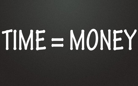 time equal money symbol