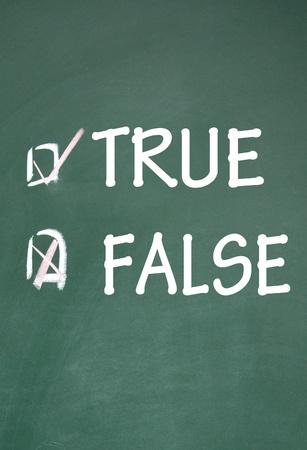 true and false choice Stock Photo - 14348721