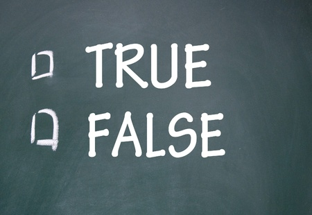 true and false choice Stock Photo - 14348722