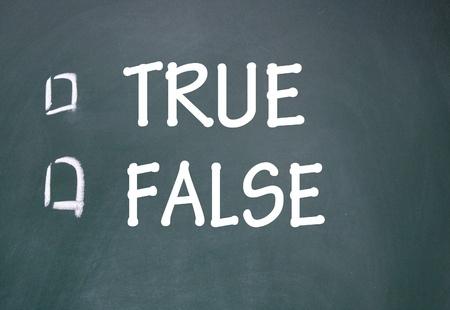 true and false choice Stock Photo - 14348722