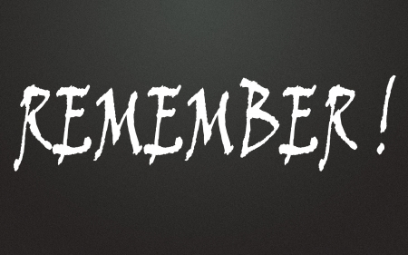remember symbol Stock Photo - 14348776