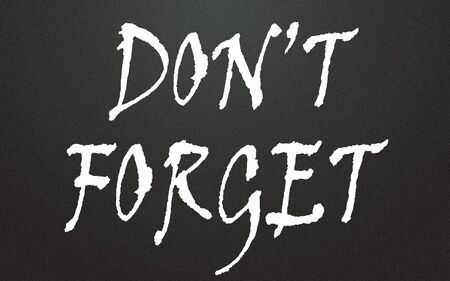 do not forget symbol Stock Photo - 14348770