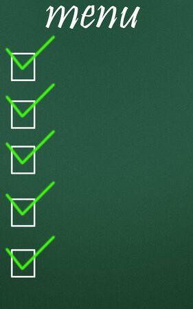 menu symbol photo