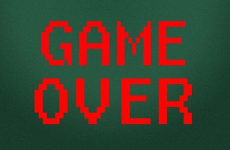 kindy: game over symbol  Stock Photo