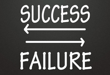 success and failure arrow photo