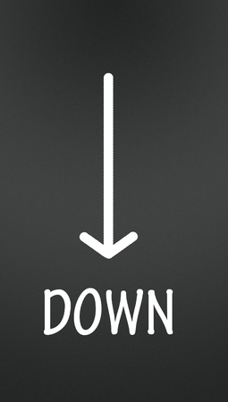 down arrow  photo