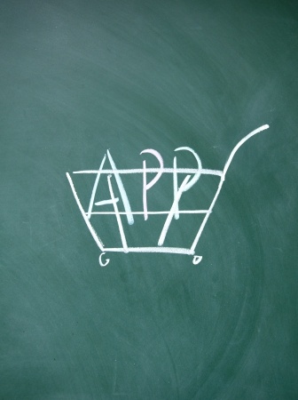 app shopping cart symbol  photo