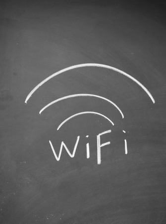 wireless hot spot: wifi symbol  Stock Photo