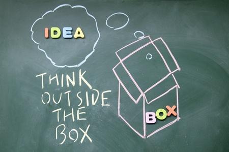 think outside the box symbol Stock Photo - 14380553