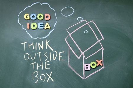 think outside the box symbol  Stock Photo - 14380534