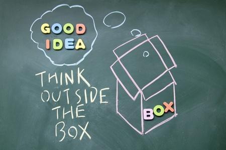 afflatus: think outside the box symbol