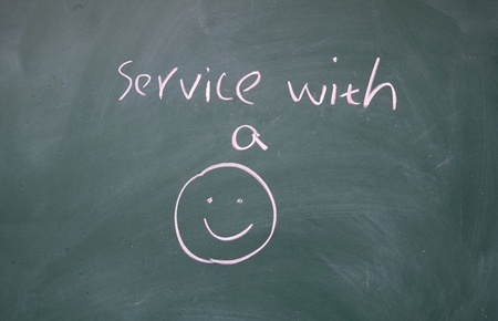 service with a smile symbol  photo