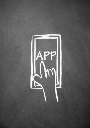 phone app symbol Stock Photo - 14380580