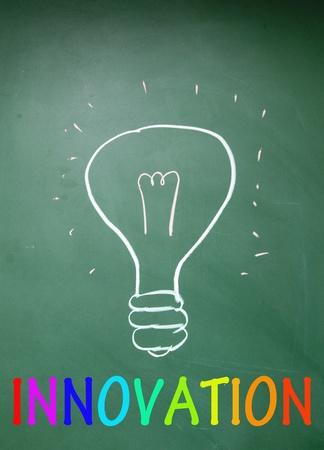 outside box: innovation symbol  Stock Photo