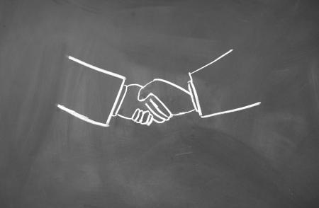 Shake hands symbol  photo