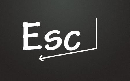 esc symbol  photo