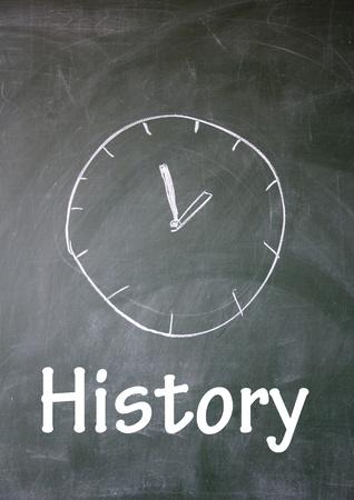 history symbol  photo