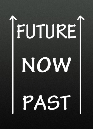 past,now and future symbol  photo
