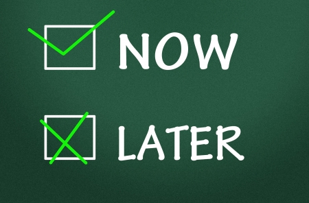 now and later choice Stock Photo - 14475160