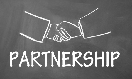 business partnership: partnership symbol  Stock Photo