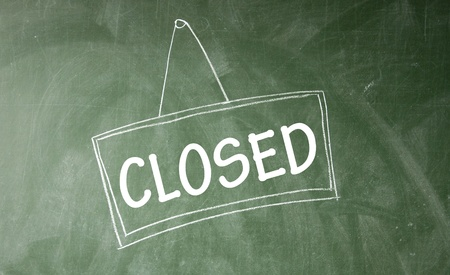 blankness: closed symbol  Stock Photo