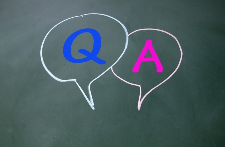 question and answer symbol  photo