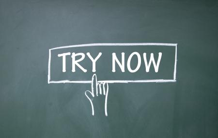 try now symbol Stock Photo - 14566439