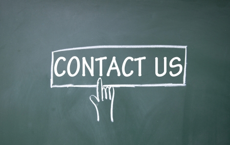 contact info: contact us symbol  Stock Photo