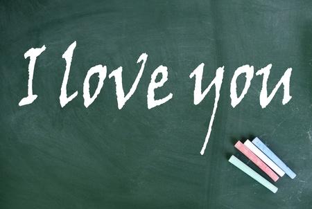 lacunae: i love you title  Stock Photo