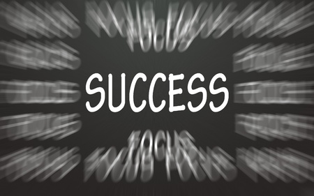 success symbol focus  photo