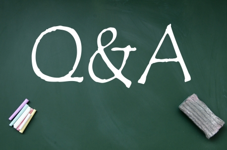 question and answer symbol Stock Photo - 14692313