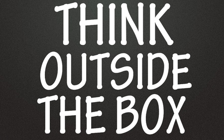 think outside the box  symbol Stock Photo - 14692340