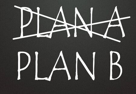 plan a and plan b symbol  photo