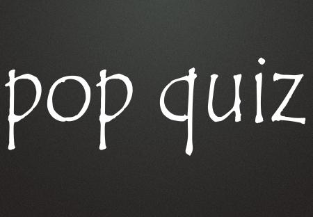 quiz test: pop quiz symbol