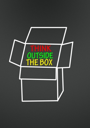 think outside the box symbol Stock Photo - 14692322