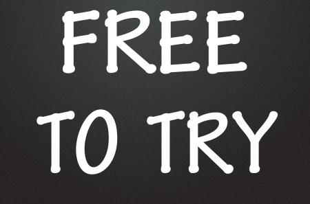 free to try symbol  photo