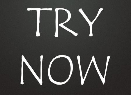 try now symbol  photo