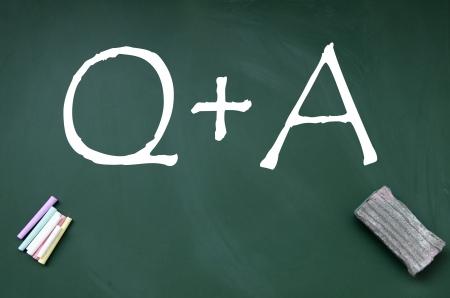 Q A symbol  photo