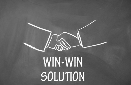 win-win solution symbol  Stock Photo