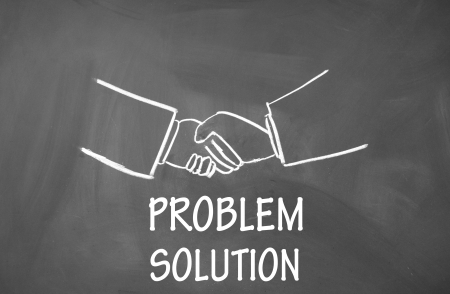 agreeing: problem solution symbol  Stock Photo