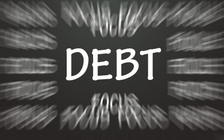 debt focus symbol  photo